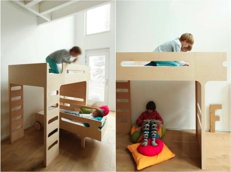 Camas infantiles de dise o moderno comodidad y diversi n - Camas casa para ninos ...