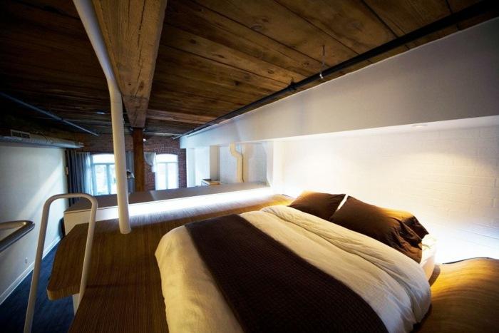 camas modernas apartamento tipo loft