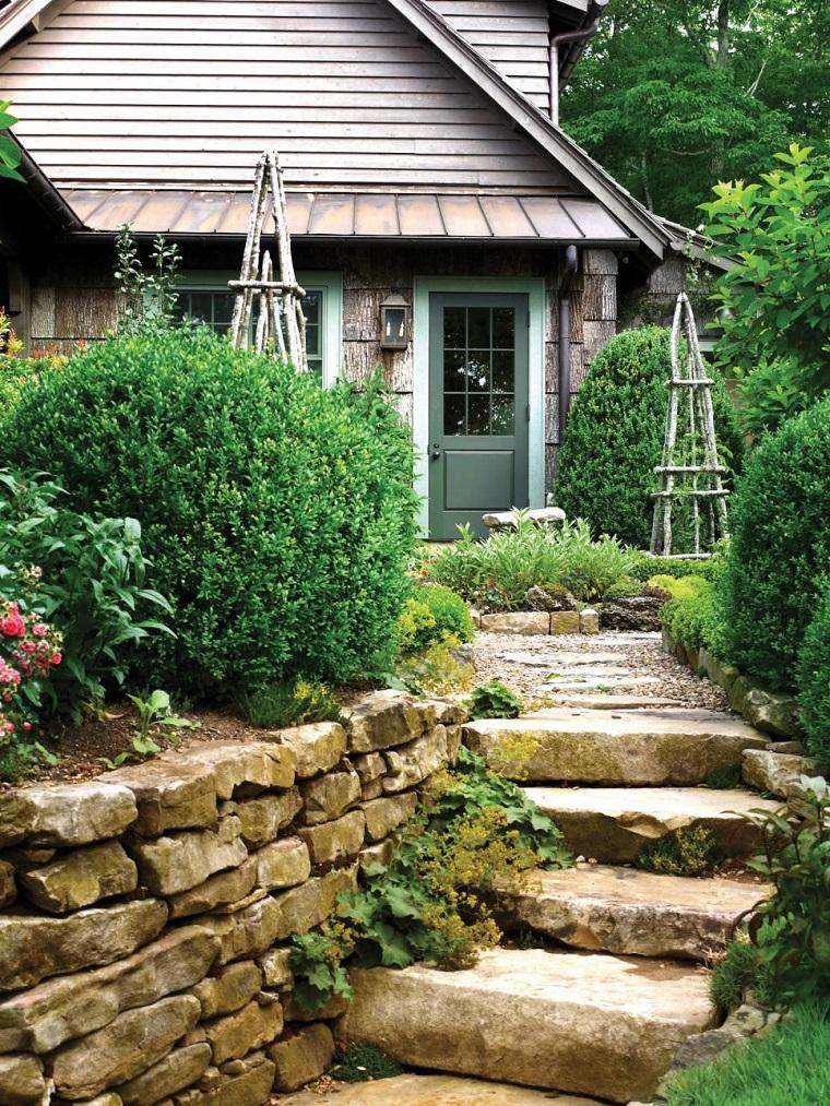 camino escaleras plantas entrada rustica ideas