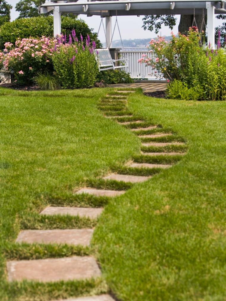 camino jardín original estilo