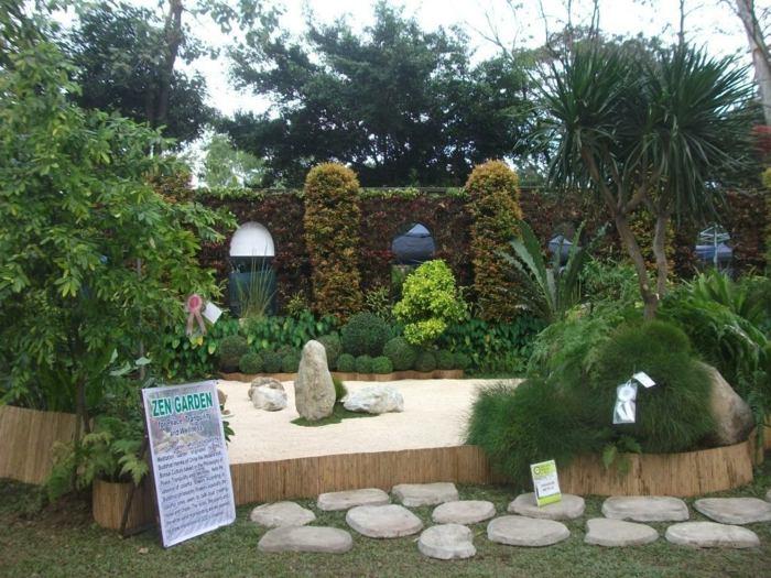 jardin zen elegantes muesbles sala posibles