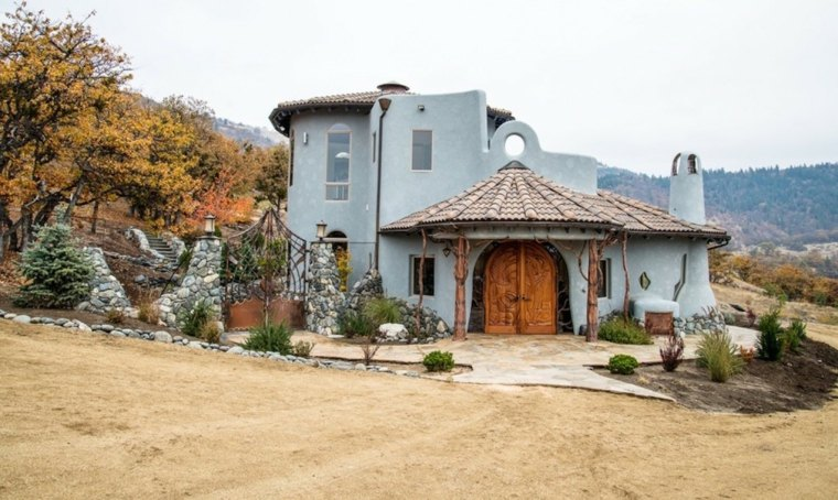 casa color celeste arquitectura viva
