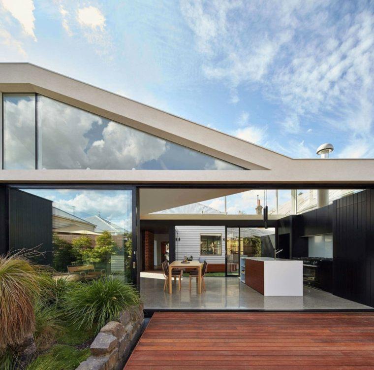 casa disenada MODO Hawthorn Australia terraza ideas