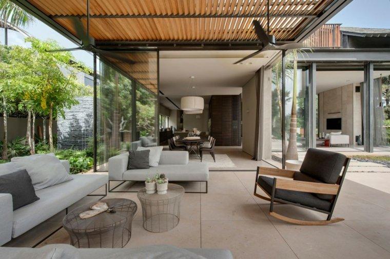 Muebles el paraiso moderno en la terraza o el balc n for Modelos de terrazas modernas