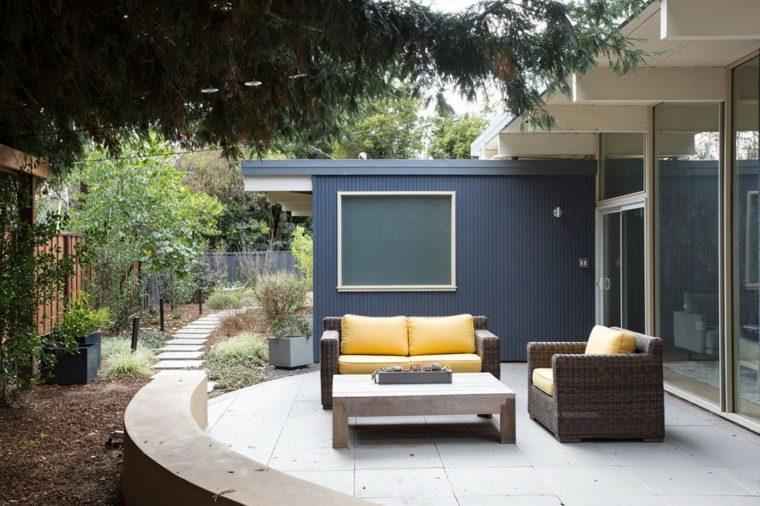 casa diseno terrazas palo alto muebles rattan ideas