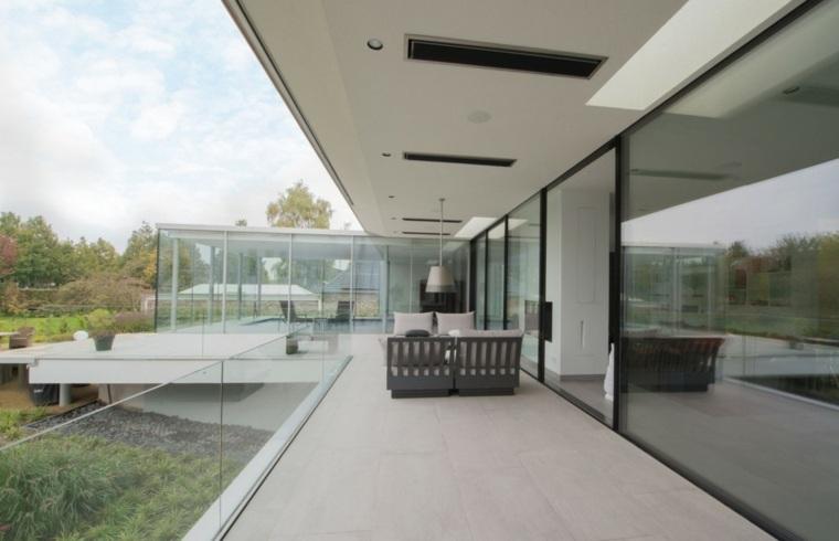 casa diseno terrazas barandillas crital ideas
