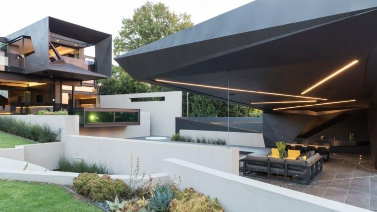 casa diseno terrazas iluminacion noches aire libre ideas