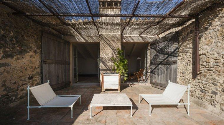 casa diseno terrazas muebles blancos modernos ideas