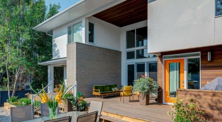 casa diseno terrazas muebles coloridos ideas
