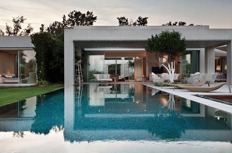 casa disenos modernos jardin amplio ideas