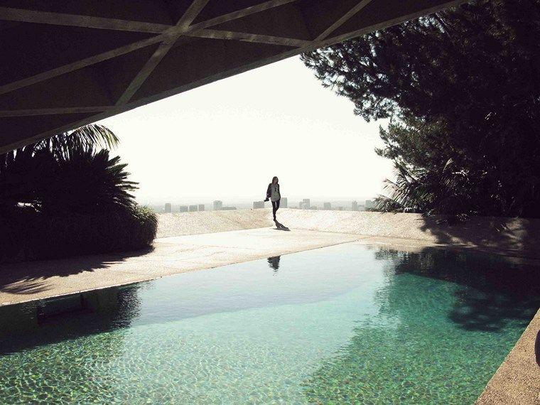 casa jardin piscina vistas ideas