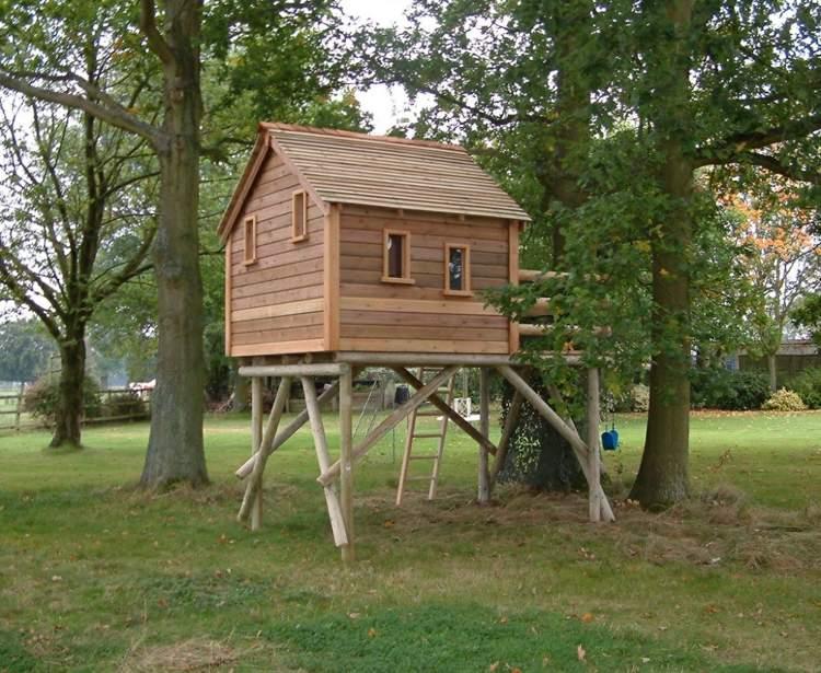 casa madera arbol bosque