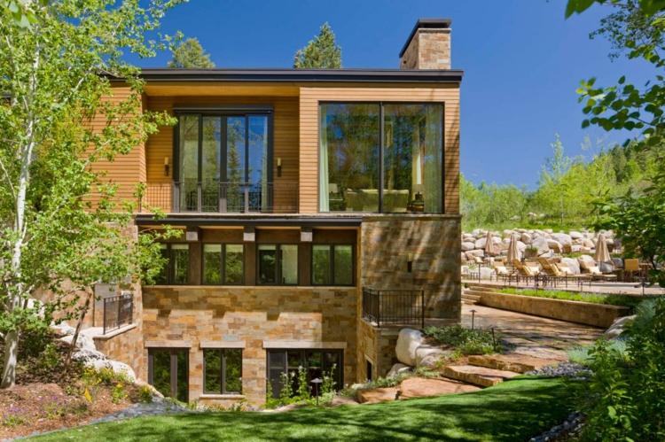 casa modera jardin nivelado