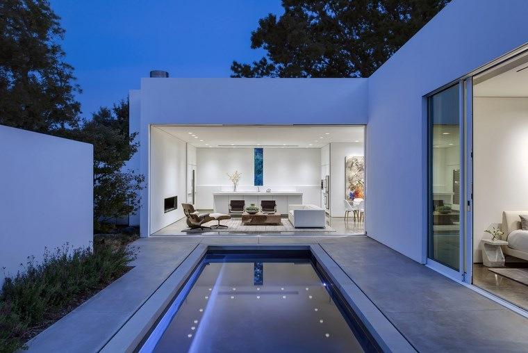 casa pequena terraza piscina diseno moderno ideas