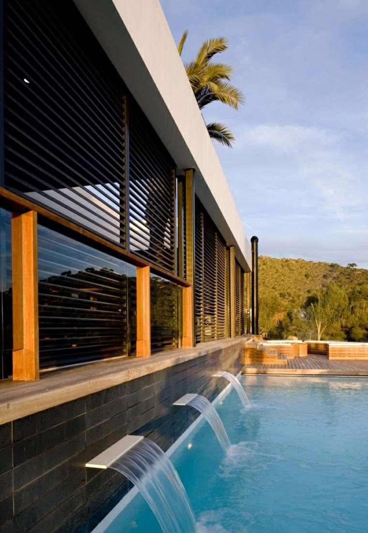 casa piscina opciones fuentes ideas
