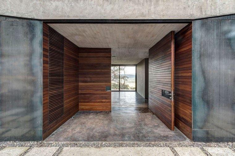 casas encanto entrada puertas madera ideas