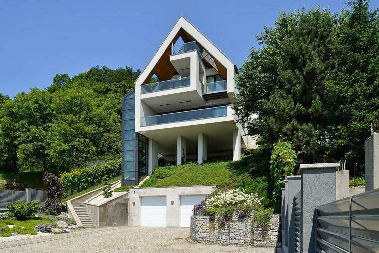 casas modernas con gavion