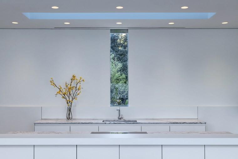 casas pequenas cocina blanca diseno minimalista ideas