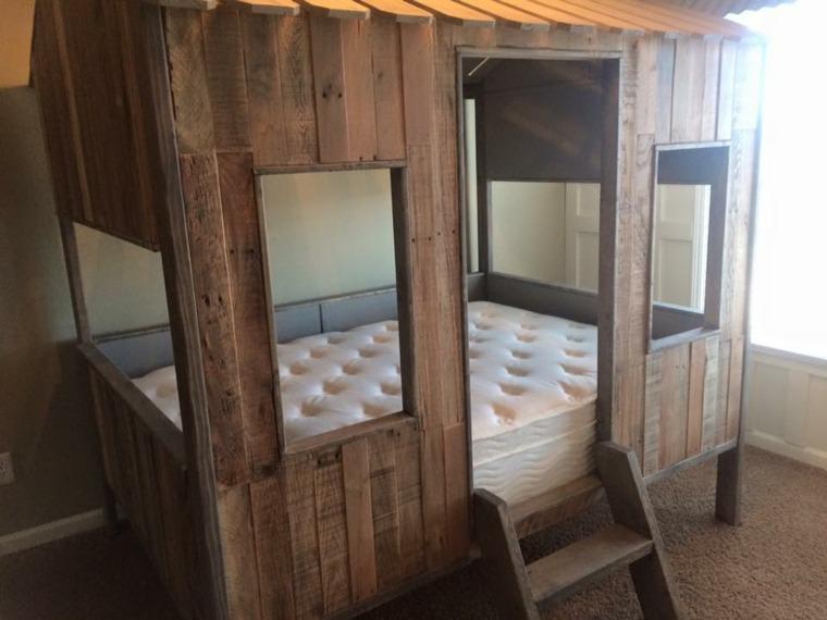 original casita modular cama palet