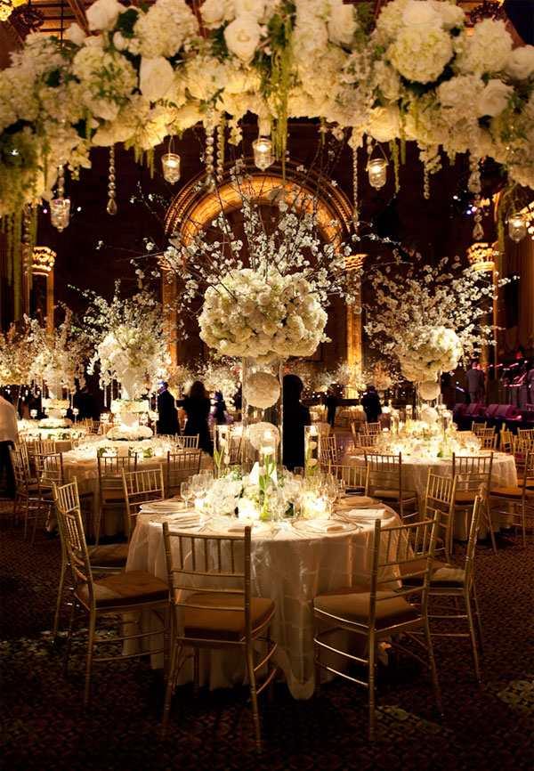 centros de mesa para bodas dramatico centro blanco ideas