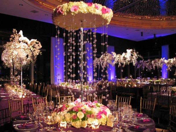 centros de mesa para bodas piedras colgando ideas