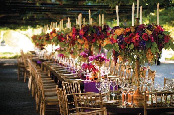 centros de mesa para bodas ramo rico colores ideas
