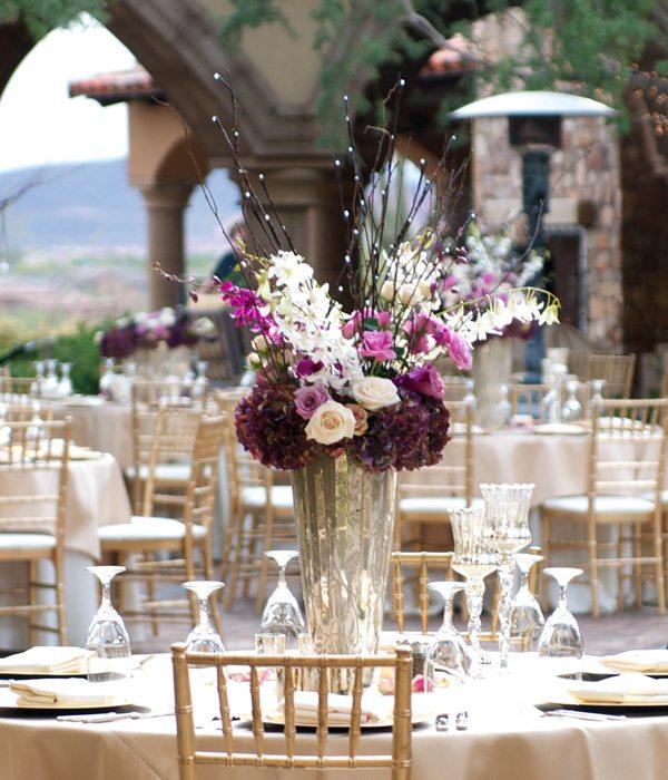 centros mesa bodas aire libre ideas