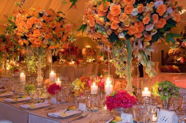 centros mesa bodas bonito mesa iluminada velas ideas