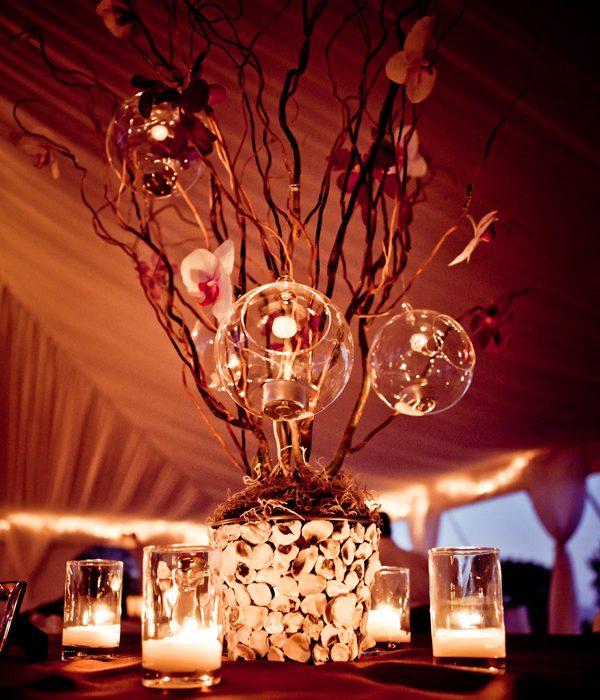 centros mesa bodas conchas ramas ideas
