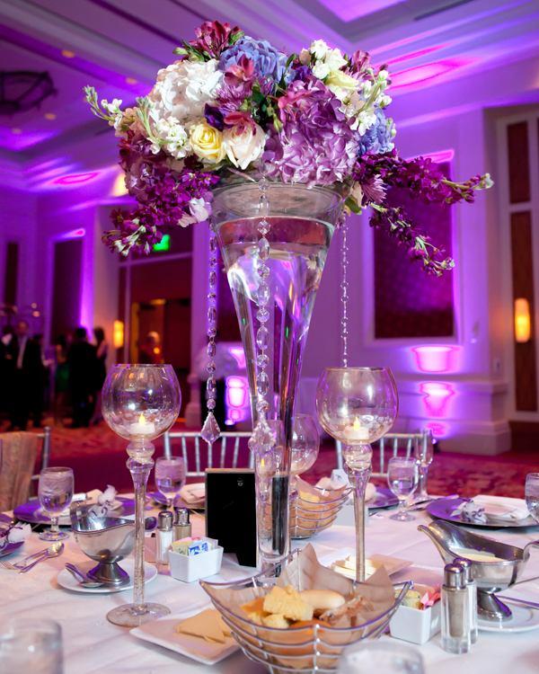 centros mesa bodas florero agua piedras preciosas ideas
