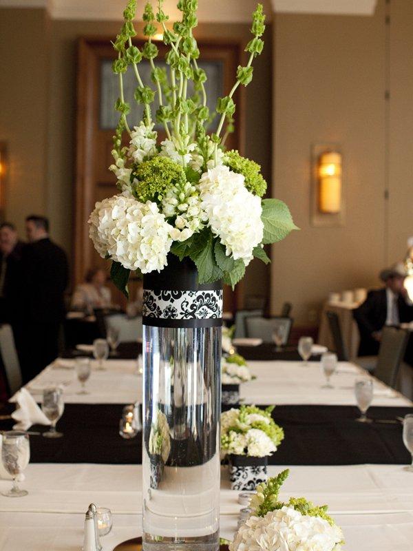 centros mesa bodas florero cristal ideas