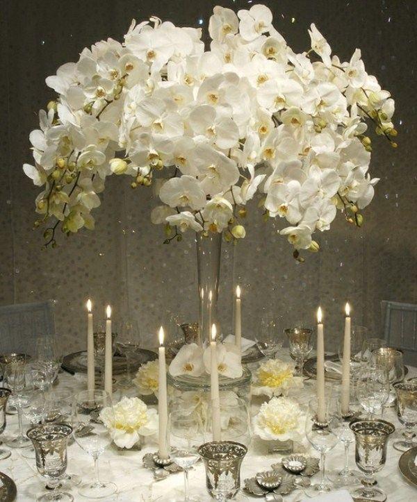 centros mesa bodas inspirado color invierno ideas