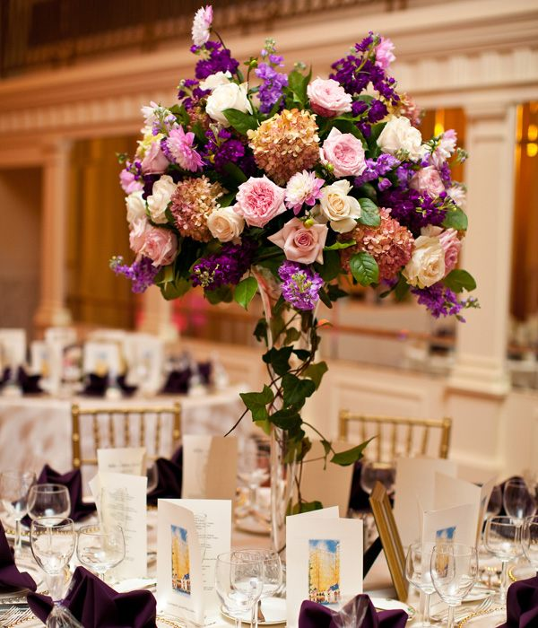 centros mesa bodas primaveral flores ideas