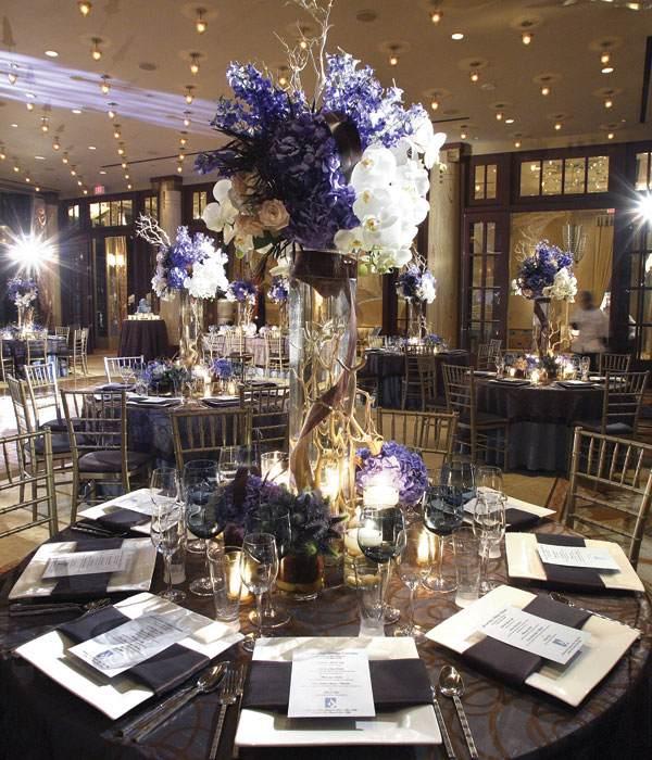 centros mesa bodas ramas florero ideas