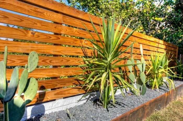 cerramientos jardin cactus gravas grava