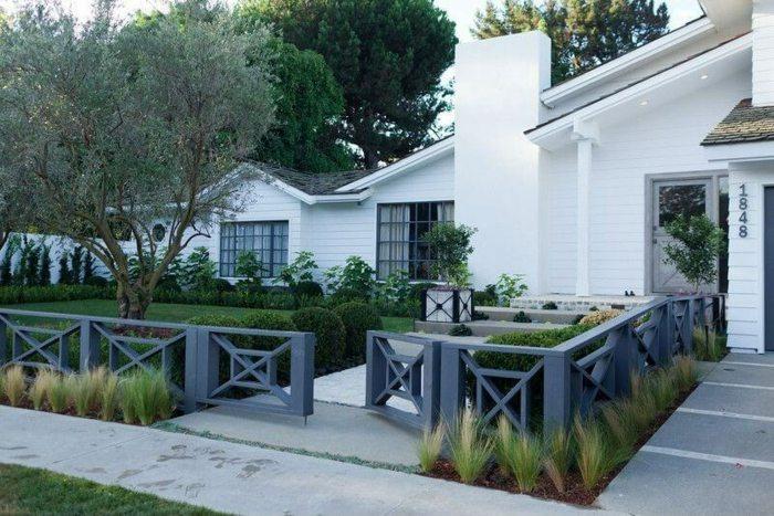 cerramientos jardin grises bajos bajos