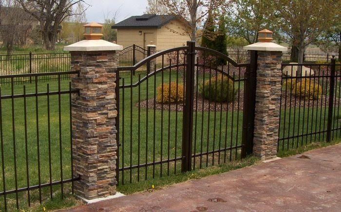 cerramientos jardin ideas estilos metales lineas