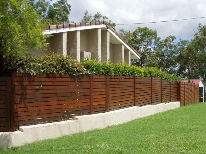 cerramientos jardin listones maderas lineas