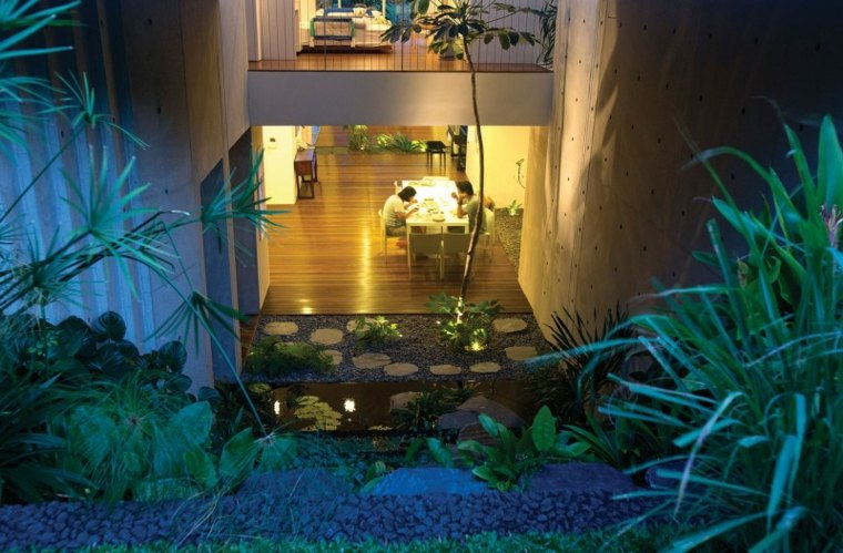 chang architects jardin niveles plantas agua ideas
