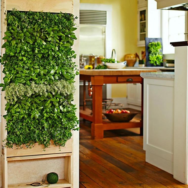 cocina especias jardin vertical