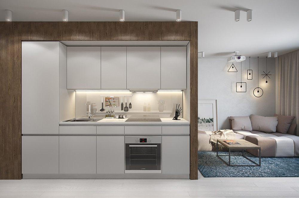 cocina diseño moderno compacta