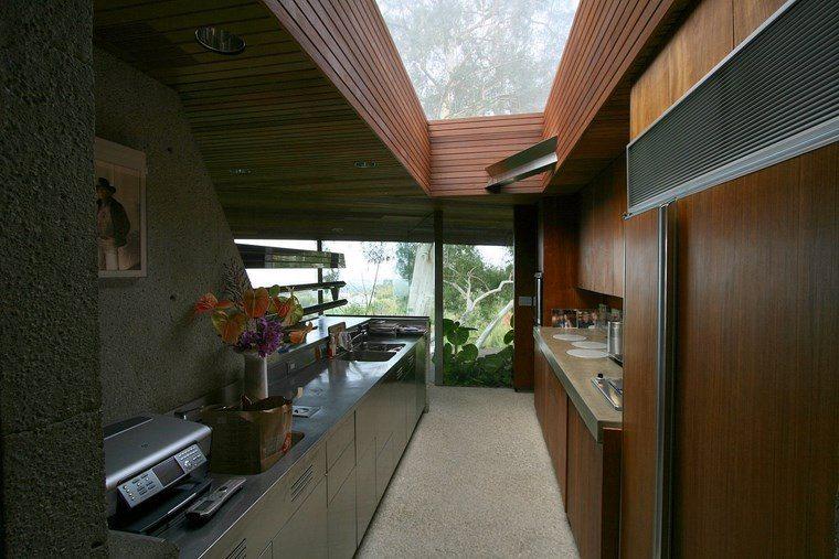 cocina muebles acero casa moderna ideas