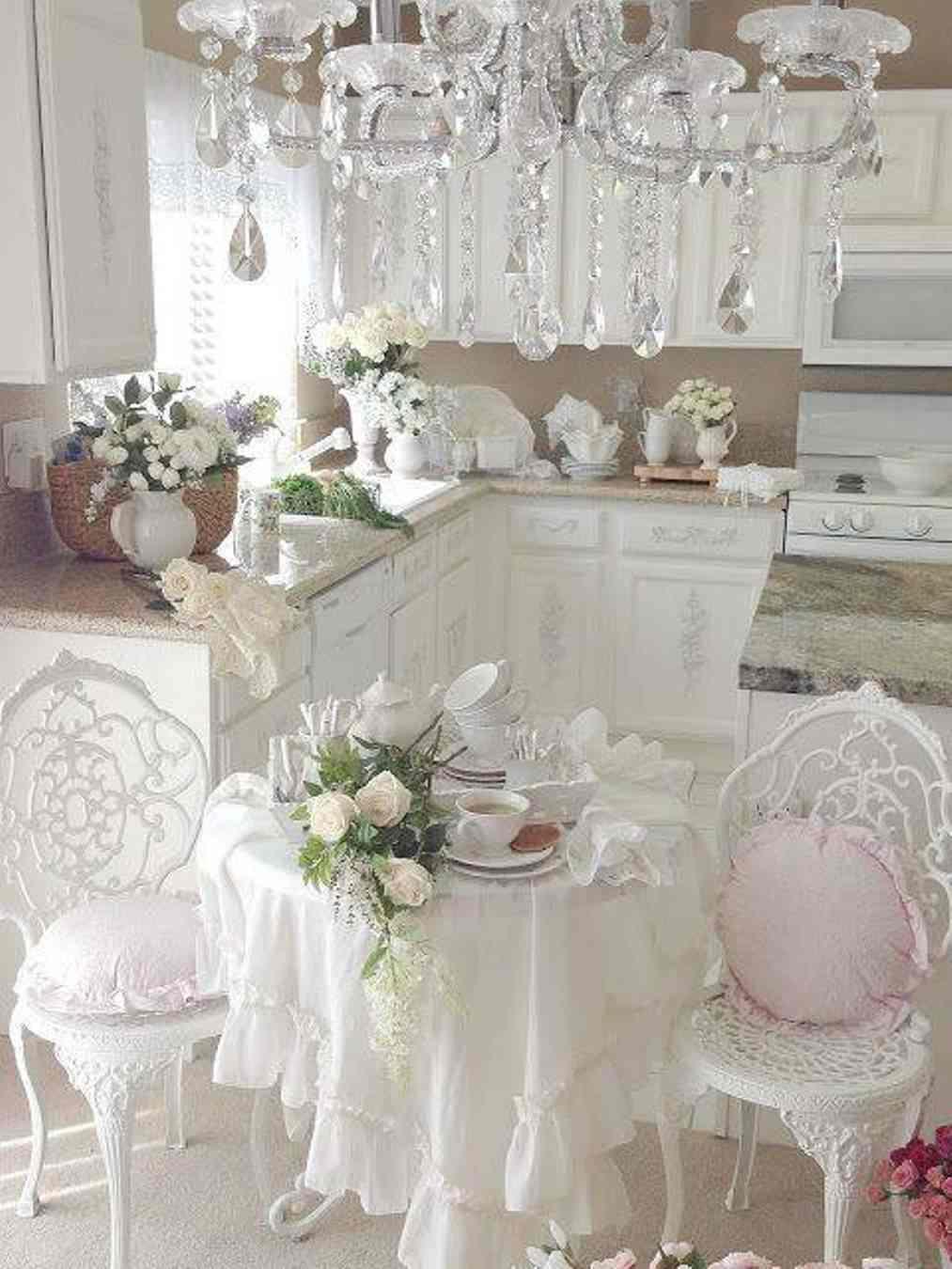 cocina blanca lujsa shabby