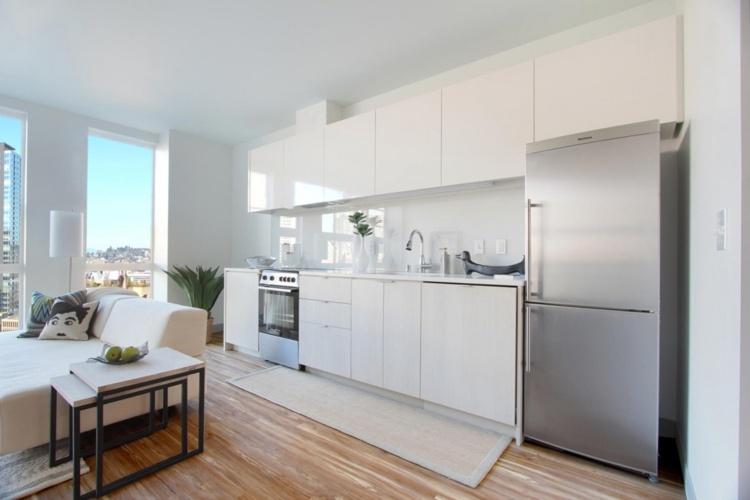 cocina muebles modernos blancos minimalistas