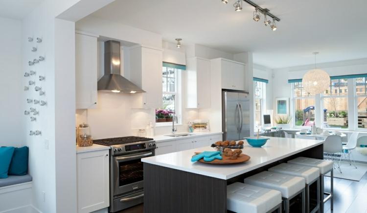 cocinas decorados muebles zonas acero