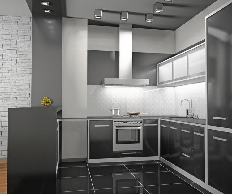 cocinas pequeñas color gris
