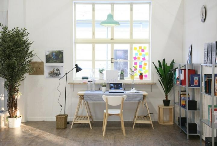 colgantes estantes muebles tareas macetas