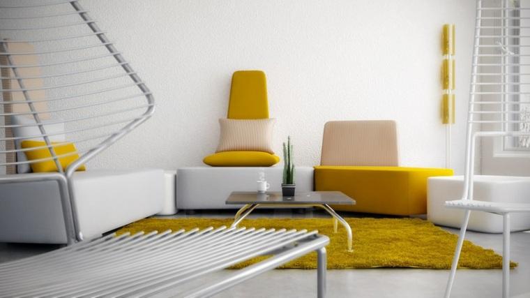 color amarillo alfombra inspiracion primavera ideas