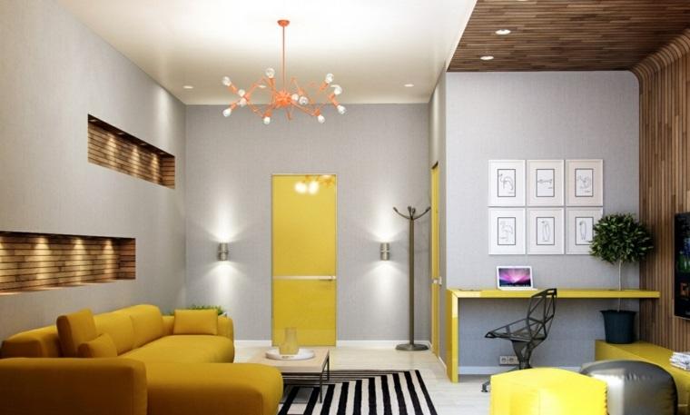 amarillo muebles color llamativo primavera ideas