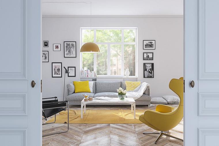 color amarillo silla amarilla salon ideas